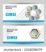 set of banners for web and... | Shutterstock .eps vector #1018058479
