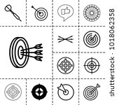 dart icons. set of 13 editable... | Shutterstock .eps vector #1018062358