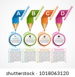 infographics template with... | Shutterstock .eps vector #1018063120