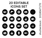 photographic icons. set of 20... | Shutterstock .eps vector #1018067170