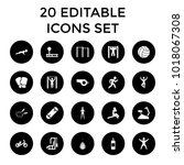 exercise icons. set of 20... | Shutterstock .eps vector #1018067308