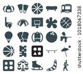 recreation icons. set of 25... | Shutterstock .eps vector #1018067338