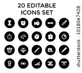 measurement icons. set of 20... | Shutterstock .eps vector #1018067428