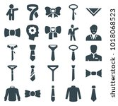 tie icons. set of 25 editable... | Shutterstock .eps vector #1018068523