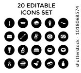 hygiene icons. set of 20... | Shutterstock .eps vector #1018068574