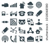 connect icons. set of 25... | Shutterstock .eps vector #1018068580