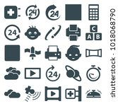 glossy icons. set of 25... | Shutterstock .eps vector #1018068790