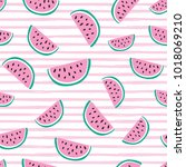 seamless vector pattern with... | Shutterstock .eps vector #1018069210