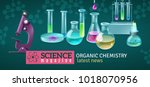 science magazine horizontal... | Shutterstock .eps vector #1018070956