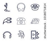 earphone icons. set of 9... | Shutterstock .eps vector #1018071814