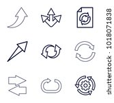 reload icons. set of 9 editable ...
