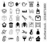 container icons. set of 36...