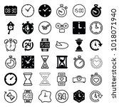 clock icons. set of 36 editable ...   Shutterstock .eps vector #1018071940