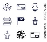 post icons. set of 9 editable... | Shutterstock .eps vector #1018072903