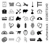 agriculture icons. set of 36... | Shutterstock .eps vector #1018073140