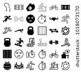 training icons. set of 36... | Shutterstock .eps vector #1018073170