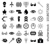 bright icons. set of 36... | Shutterstock .eps vector #1018073200