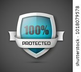 100  protected guard shield...   Shutterstock .eps vector #1018079578