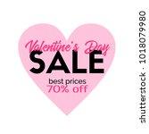 valentines day sale.... | Shutterstock . vector #1018079980