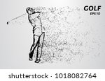 golf of particles. male golf...   Shutterstock .eps vector #1018082764