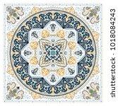 vector ornament paisley bandana ... | Shutterstock .eps vector #1018084243