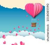 love or valentine's day... | Shutterstock .eps vector #1018085590