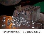 industrial metalworking cutting ... | Shutterstock . vector #1018095319