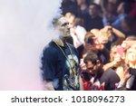 27.01.2018. riga latvia. at... | Shutterstock . vector #1018096273