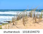 Small photo of Dunes near the beach near the Indian Ocean seen from the Oyster Catcher Trail near Mosselbay on the Garden Route in South Africa popular with tourists