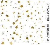 gold star confetti rain festive ...   Shutterstock .eps vector #1018109134