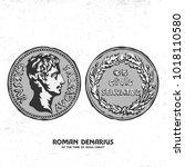 ancient coin. roman denarius of ...