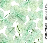 seamless pattern with  clover... | Shutterstock .eps vector #1018111543