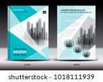 annual report cover design ... | Shutterstock .eps vector #1018111939