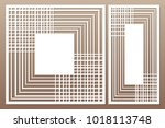 template for cutting. geometric ... | Shutterstock .eps vector #1018113748