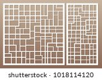 template for cutting. abstract... | Shutterstock .eps vector #1018114120