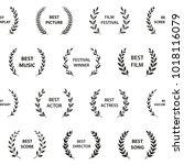 black and white film award...   Shutterstock .eps vector #1018116079