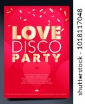 vertical love party background... | Shutterstock .eps vector #1018117048