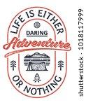 life is either a daring... | Shutterstock .eps vector #1018117999