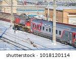 moscow  feb. 01  2018  winter...   Shutterstock . vector #1018120114