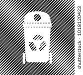 trashcan sign illustration....   Shutterstock .eps vector #1018120423