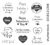 valentine day and love... | Shutterstock .eps vector #1018121308