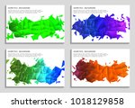 vector set of faceted 3d... | Shutterstock .eps vector #1018129858