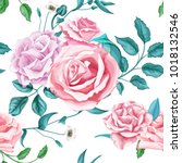 flowers floral vintage fashion... | Shutterstock .eps vector #1018132546