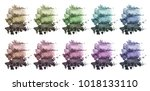 a huge set of multi colored... | Shutterstock . vector #1018133110