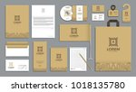 corporate identity branding... | Shutterstock .eps vector #1018135780