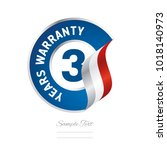 3 years warranty blue icon... | Shutterstock .eps vector #1018140973
