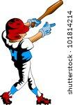 baseball player strikes the... | Shutterstock .eps vector #101814214