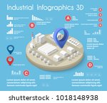 city isometric colorful 3d... | Shutterstock .eps vector #1018148938