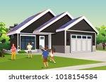 a vector illustration of family ... | Shutterstock .eps vector #1018154584
