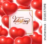 balloon hearts. vector... | Shutterstock .eps vector #1018157098